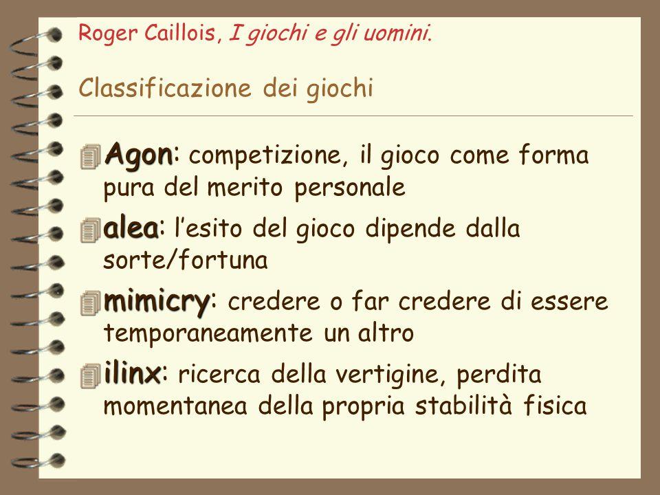 Roger Caillois, I giochi e gli uomini. Classificazione dei giochi