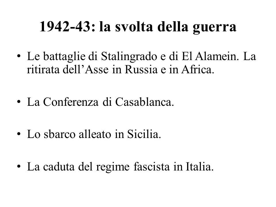 1942-43: la svolta della guerra