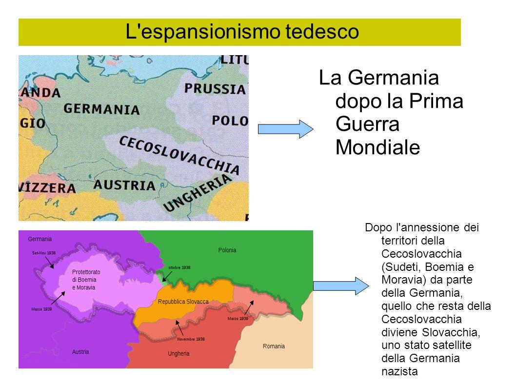 L espansionismo tedesco