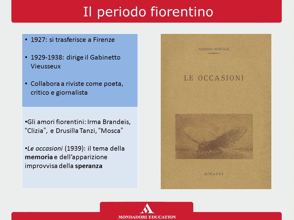 Il periodo fiorentino 1927: si trasferisce a Firenze