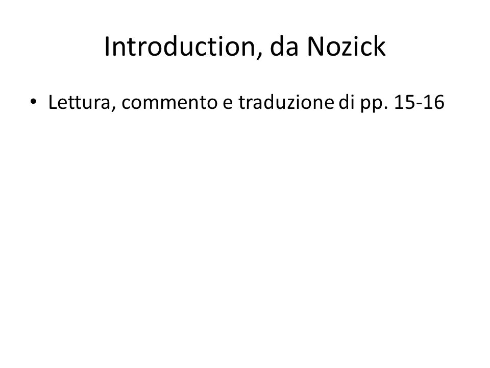 Introduction, da Nozick