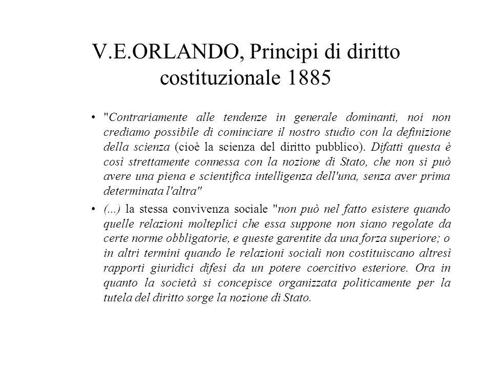 V.E.ORLANDO, Principi di diritto costituzionale 1885