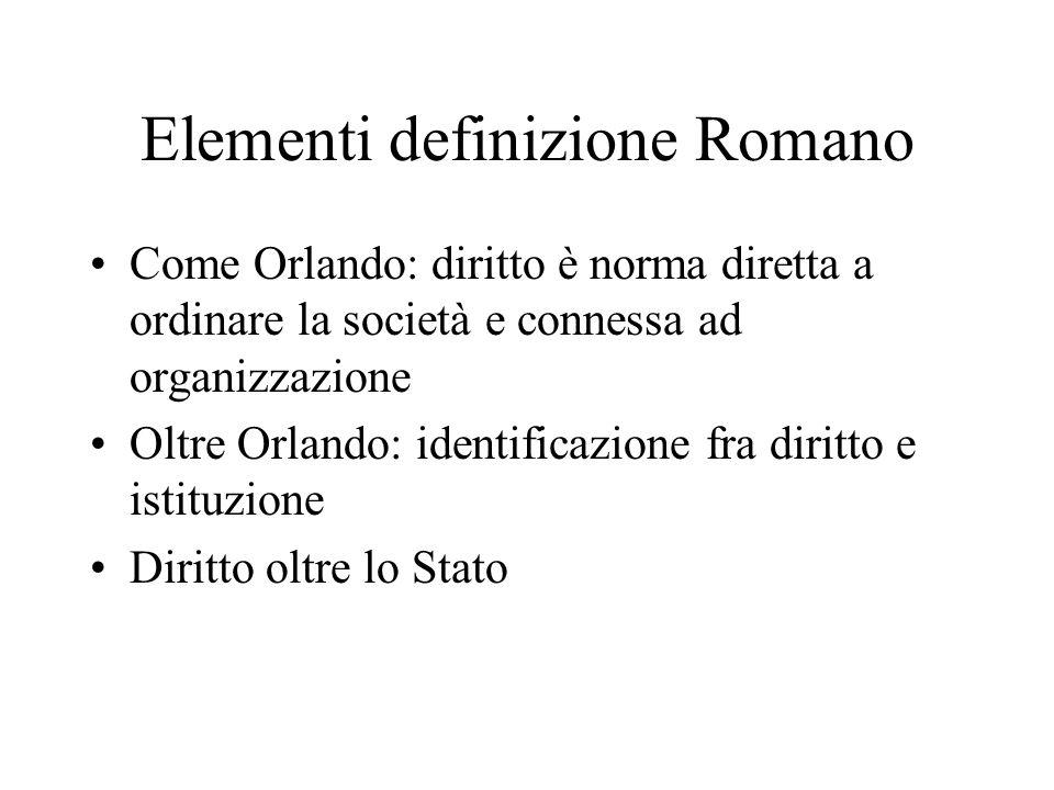Elementi definizione Romano
