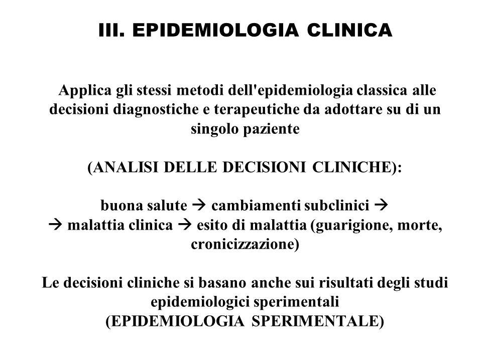 III. EPIDEMIOLOGIA CLINICA