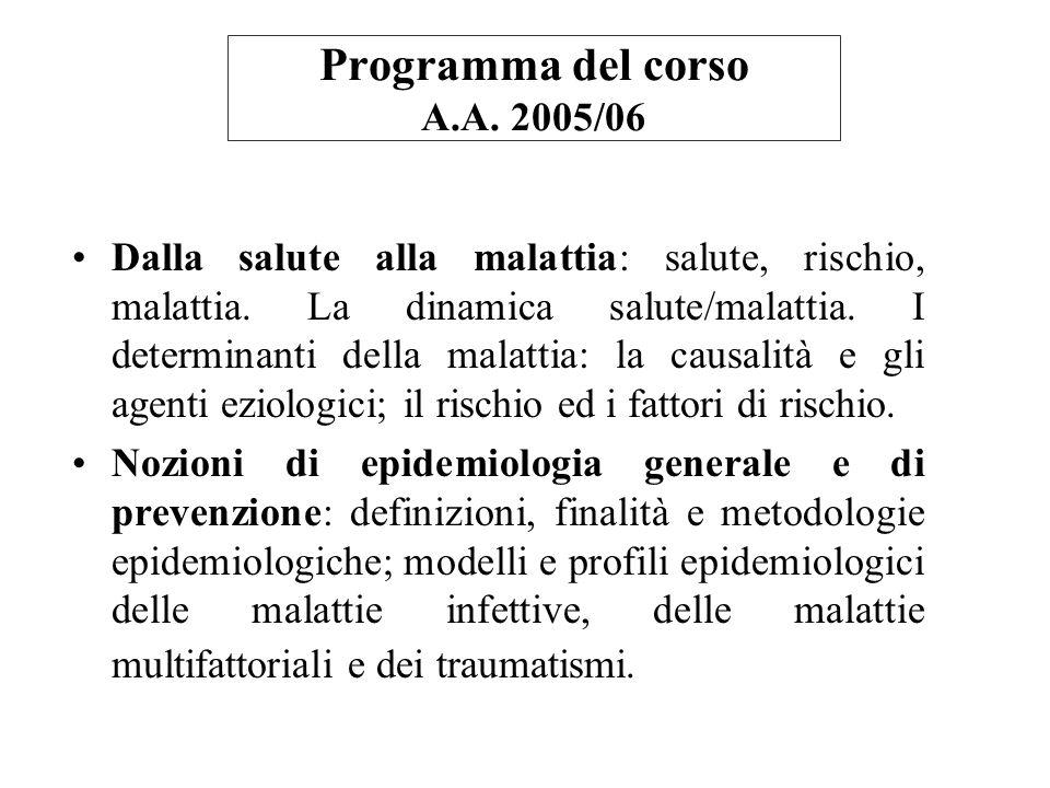 Programma del corso A.A. 2005/06