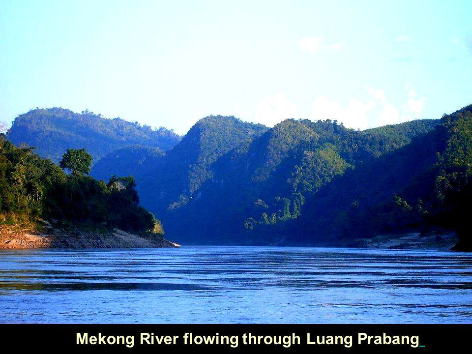 Mekong River flowing through Luang Prabang