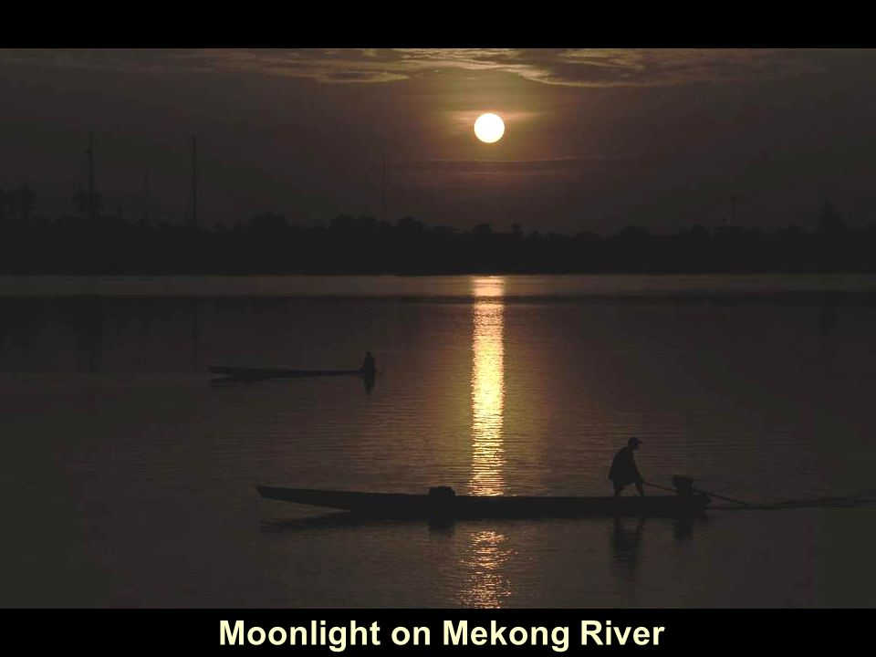Moonlight on Mekong River