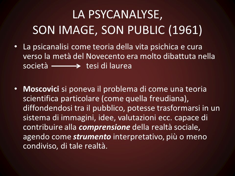 LA PSYCANALYSE, SON IMAGE, SON PUBLIC (1961)