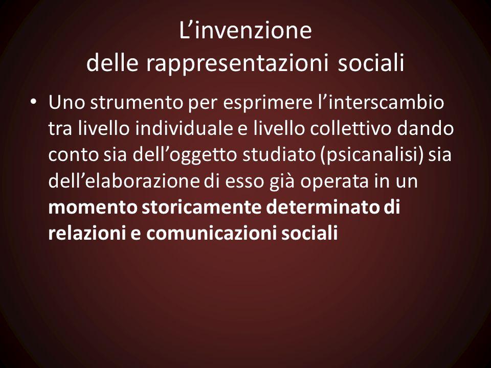 L'invenzione delle rappresentazioni sociali