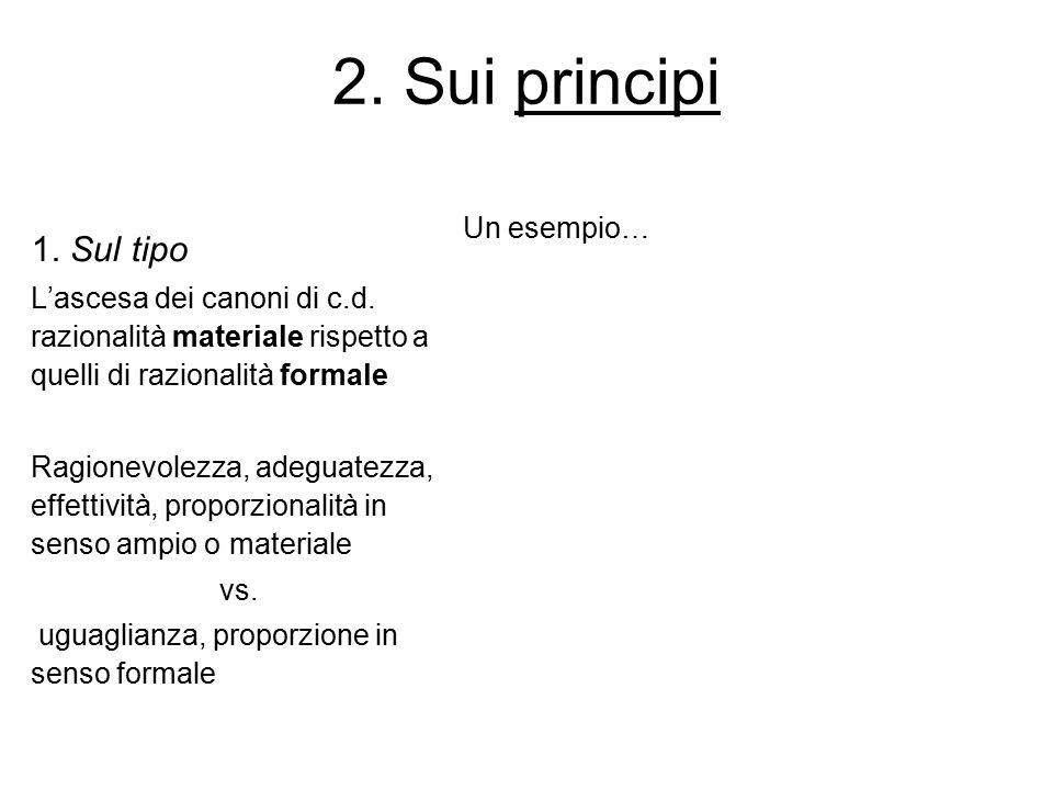 2. Sui principi 1. Sul tipo Un esempio…