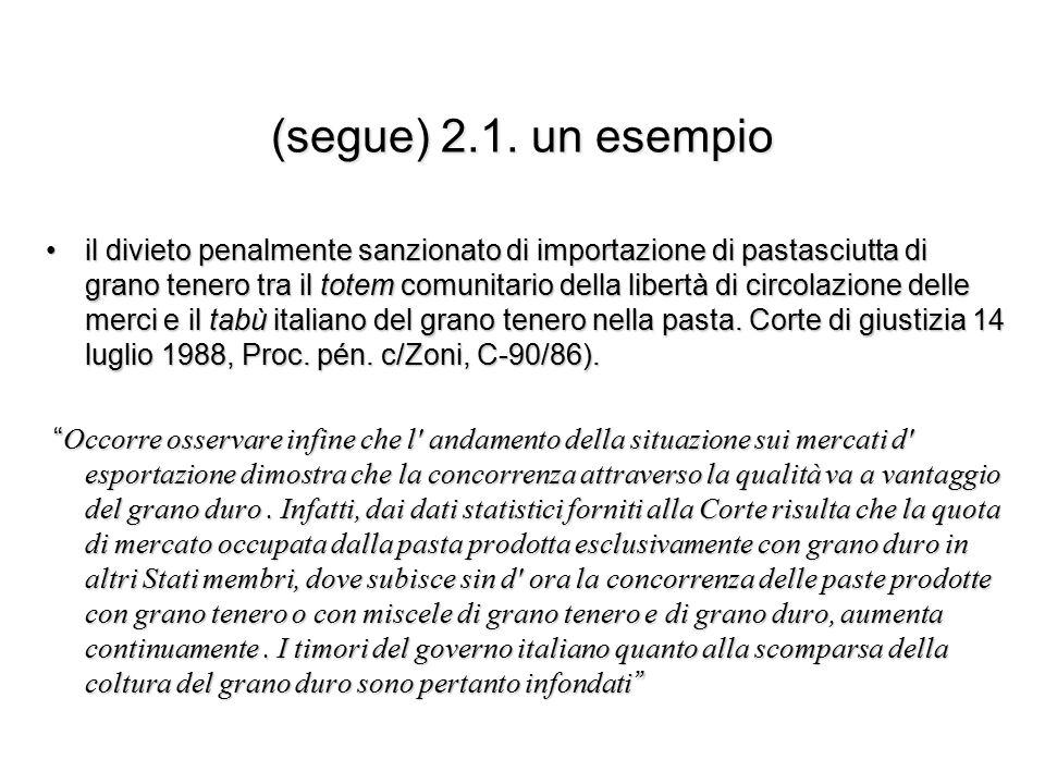 (segue) 2.1. un esempio