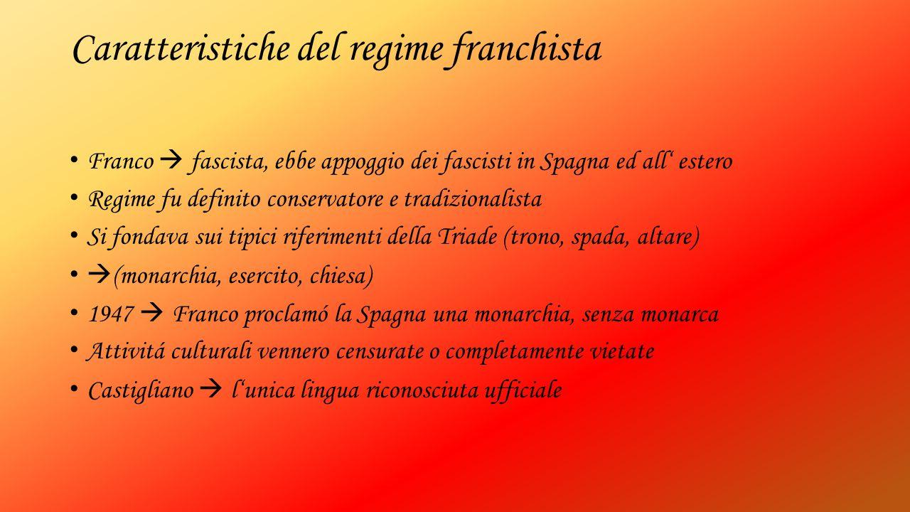 Caratteristiche del regime franchista