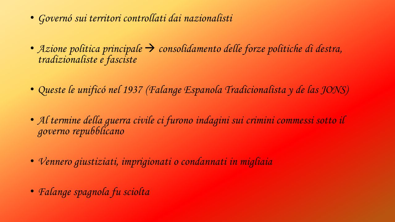 Governó sui territori controllati dai nazionalisti