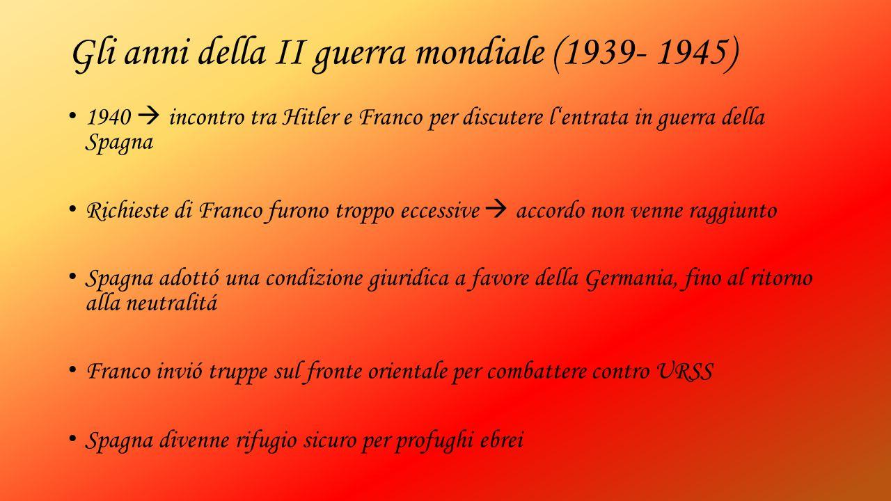 Gli anni della II guerra mondiale (1939- 1945)