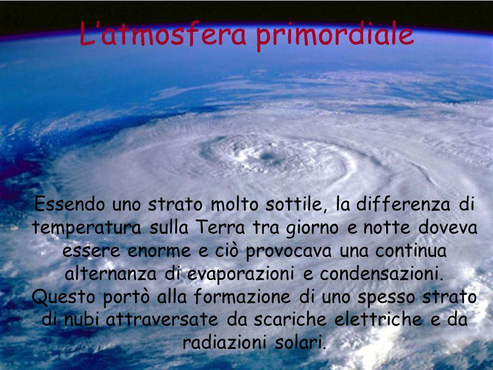 L'atmosfera primordiale