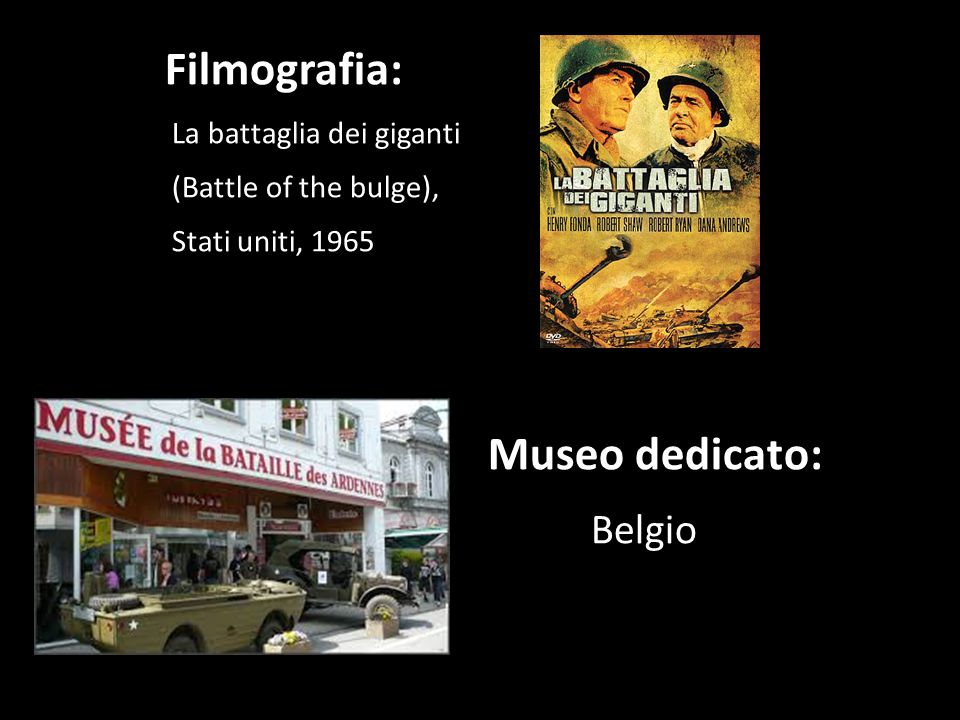 Filmografia: Belgio La battaglia dei giganti (Battle of the bulge),