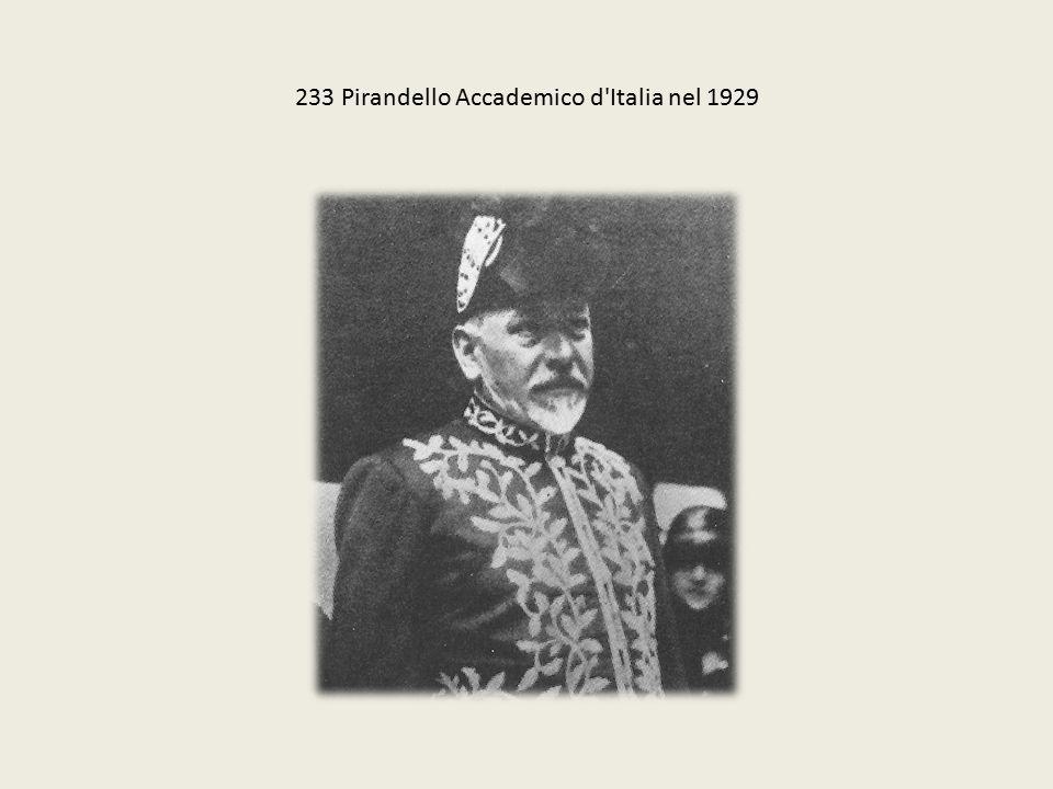 233 Pirandello Accademico d Italia nel 1929