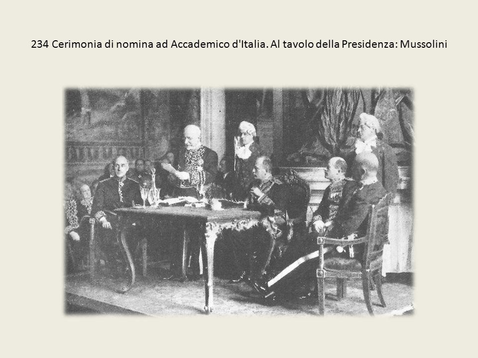 234 Cerimonia di nomina ad Accademico d Italia
