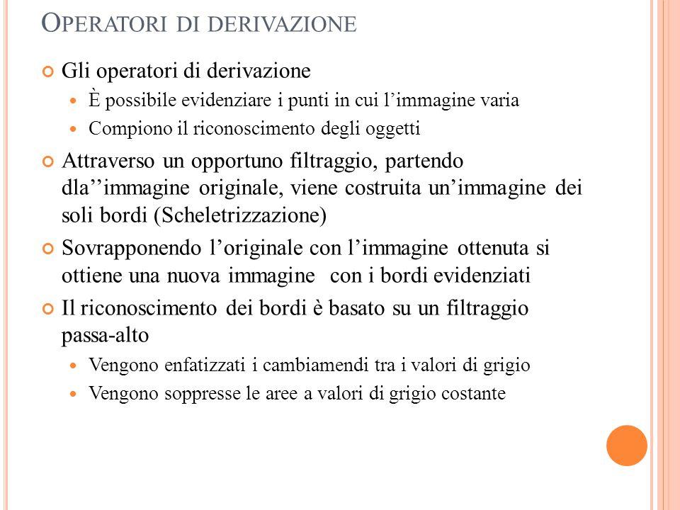Operatori di derivazione
