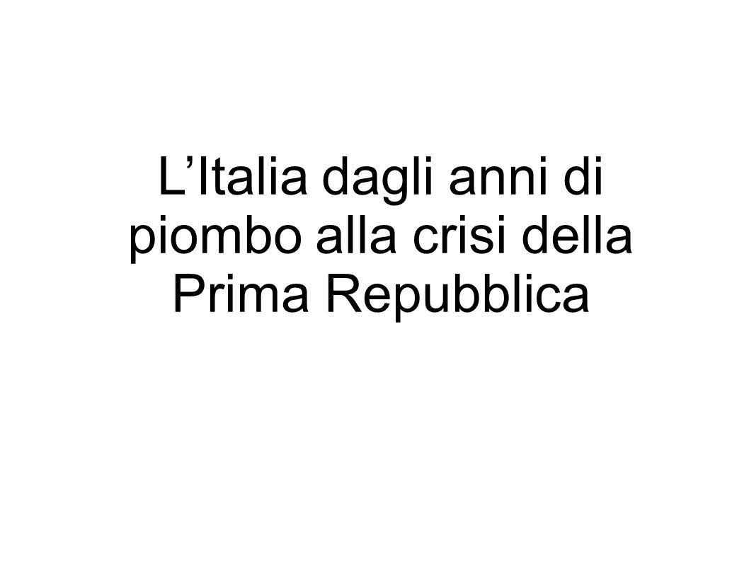 L'Italia dagli anni di piombo alla crisi della Prima Repubblica