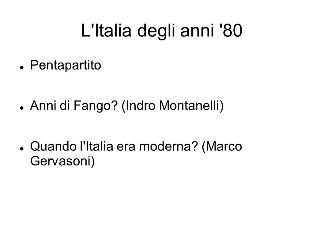 L Italia degli anni 80 Pentapartito Anni di Fango (Indro Montanelli)