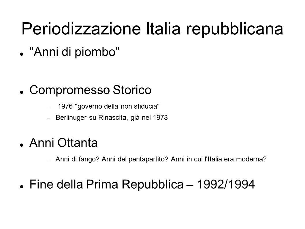 Periodizzazione Italia repubblicana