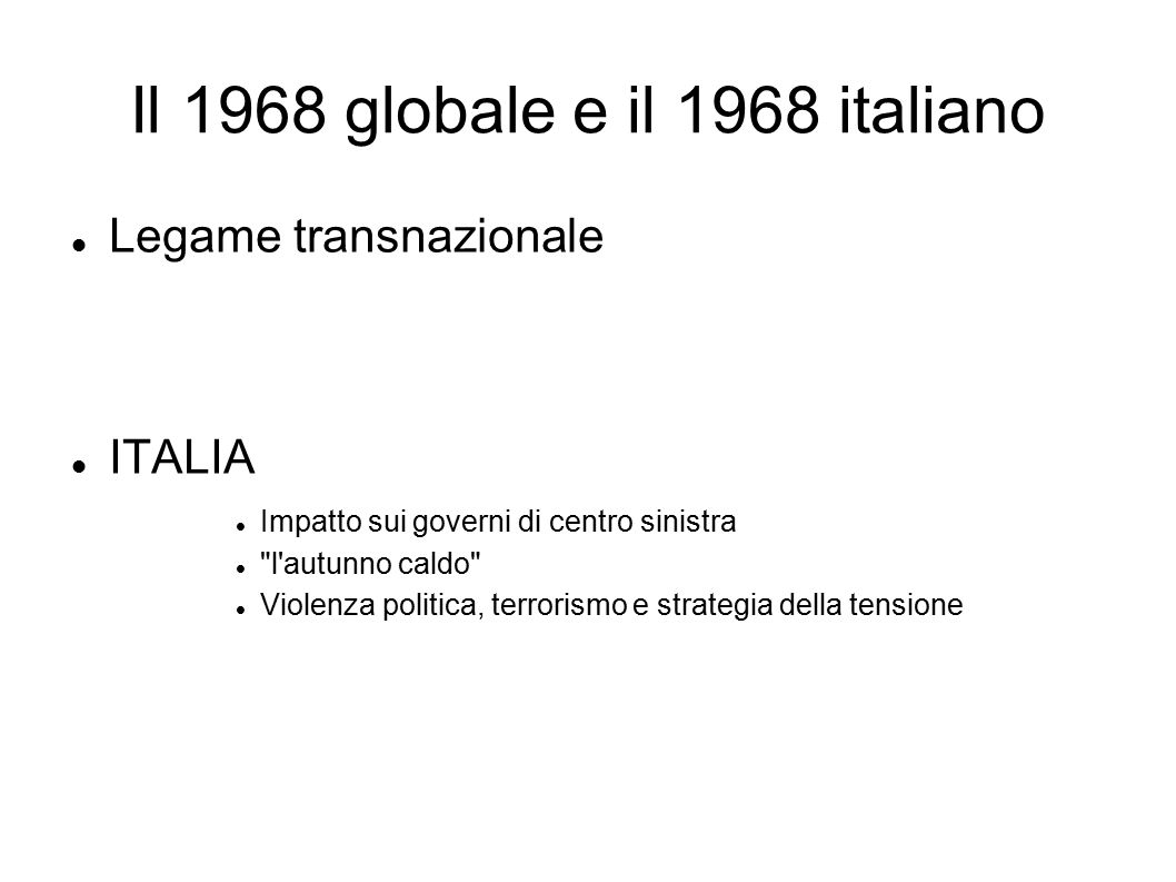 Il 1968 globale e il 1968 italiano
