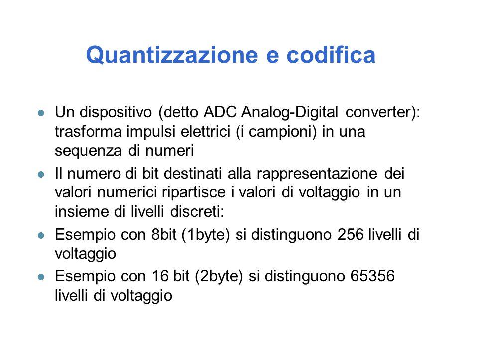 Quantizzazione e codifica