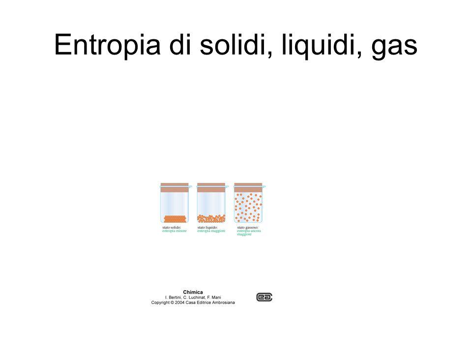 Entropia di solidi, liquidi, gas