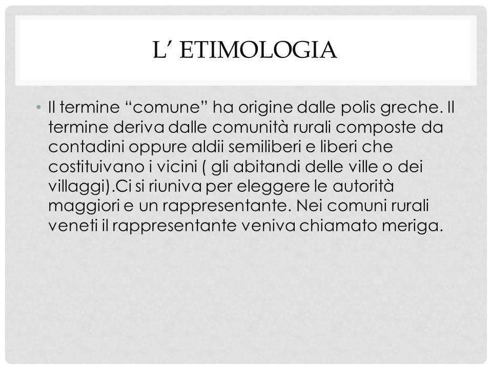 L' etimologia