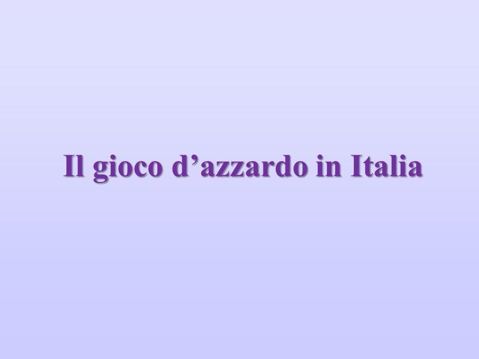 Il gioco d'azzardo in Italia