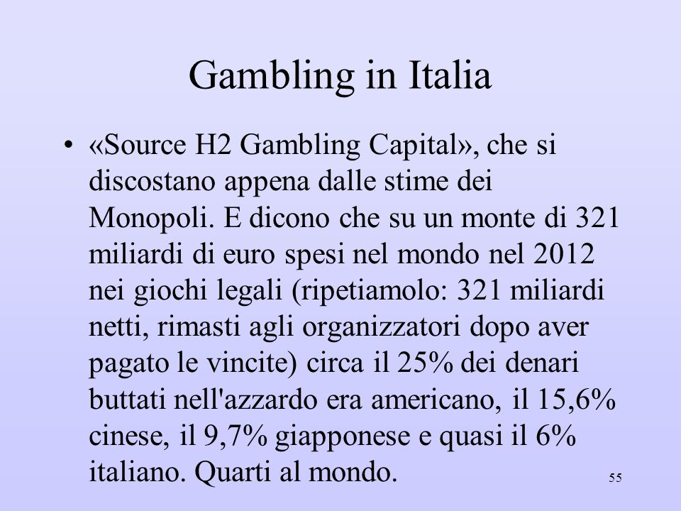 Gambling in Italia