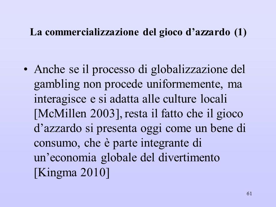 La commercializzazione del gioco d'azzardo (1)