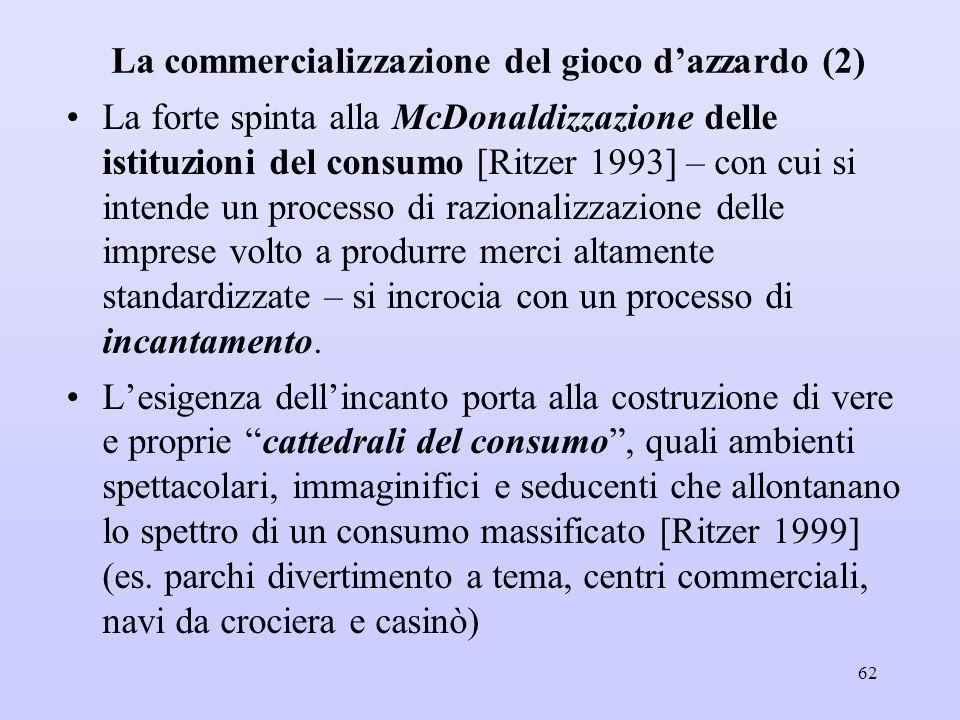 La commercializzazione del gioco d'azzardo (2)