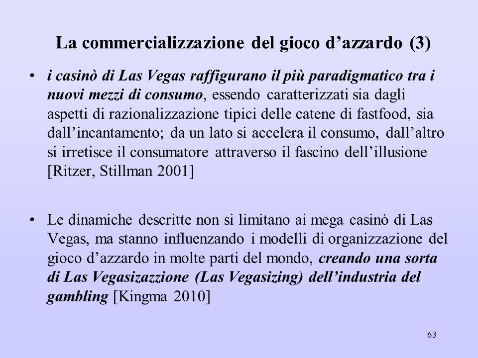 La commercializzazione del gioco d'azzardo (3)