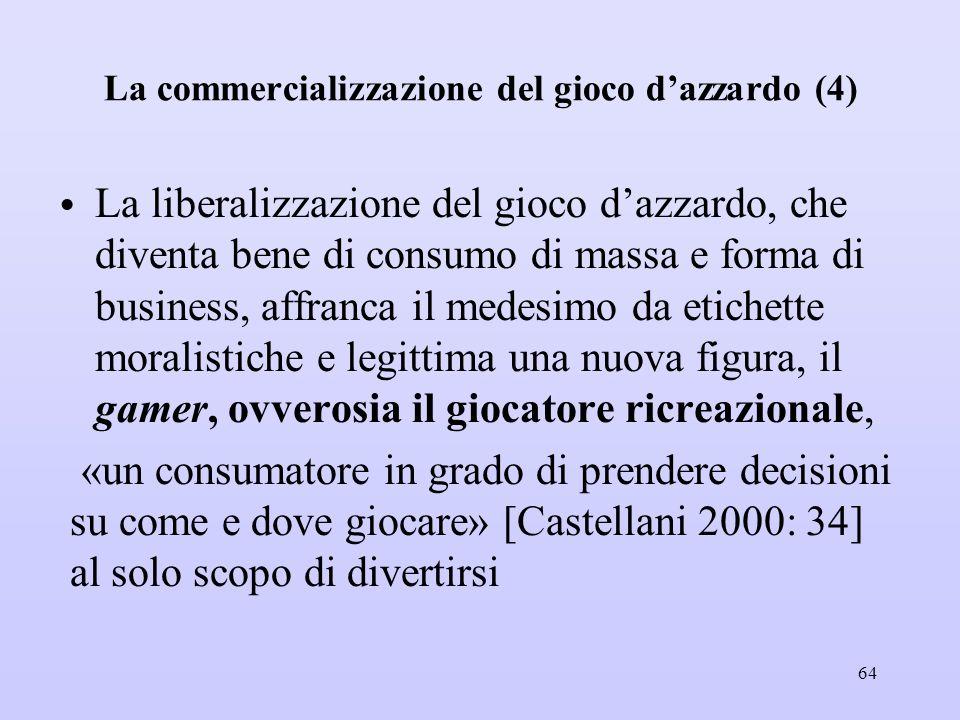 La commercializzazione del gioco d'azzardo (4)