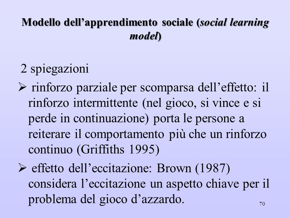 Modello dell'apprendimento sociale (social learning model)