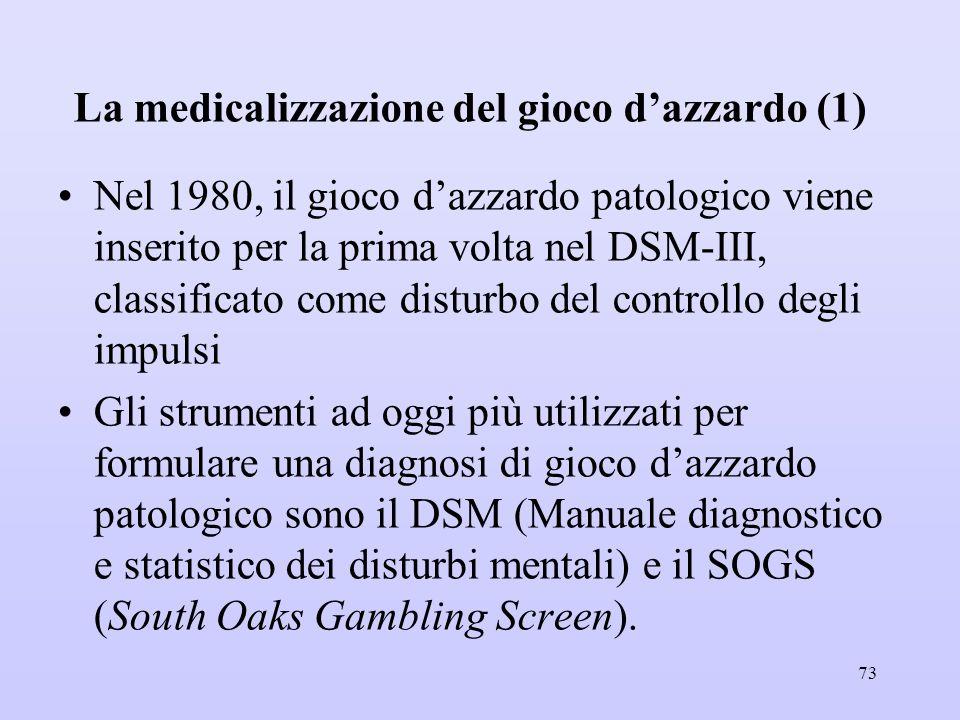 La medicalizzazione del gioco d'azzardo (1)