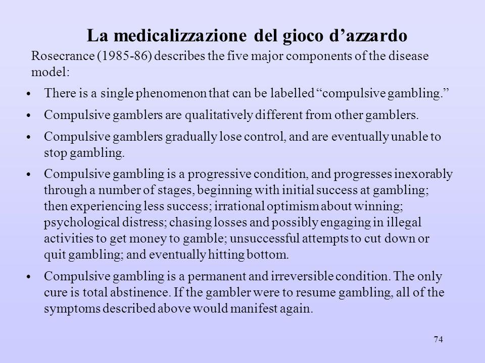 La medicalizzazione del gioco d'azzardo