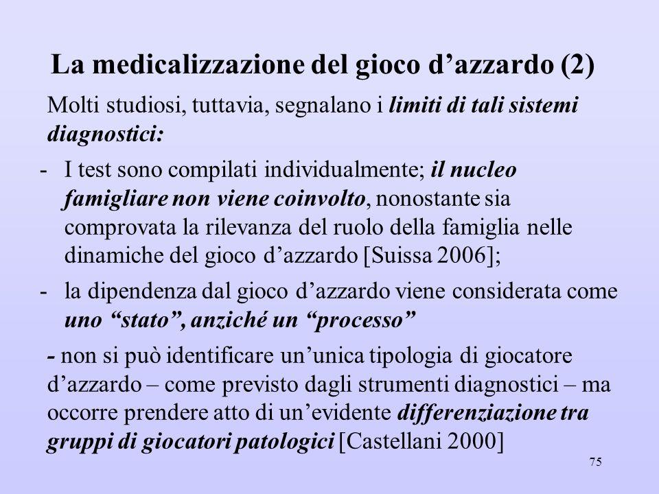 La medicalizzazione del gioco d'azzardo (2)