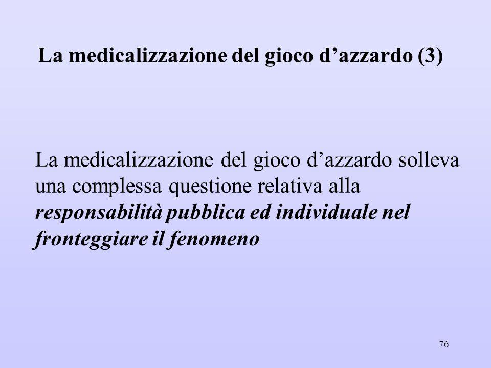 La medicalizzazione del gioco d'azzardo (3)
