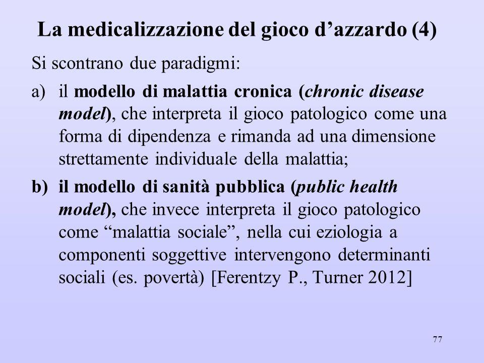 La medicalizzazione del gioco d'azzardo (4)