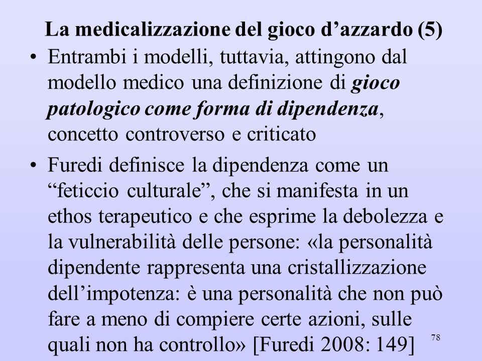 La medicalizzazione del gioco d'azzardo (5)