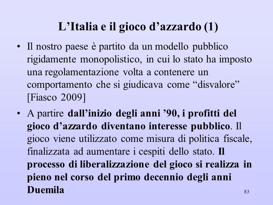 L'Italia e il gioco d'azzardo (1)