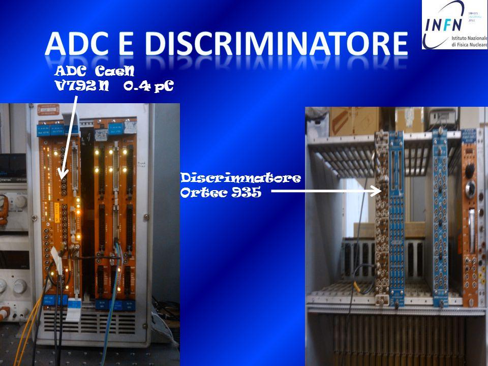 ADC E DISCRIMINATORE ADC CaeN V792 N 0.4 pC Discrimnatore Ortec 935