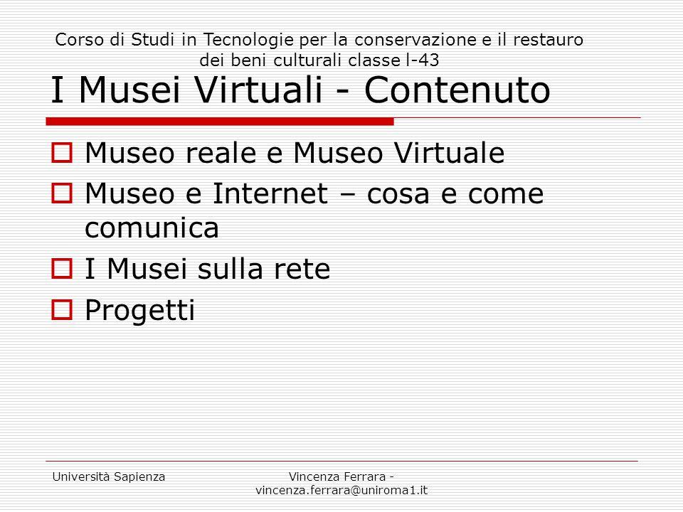 I Musei Virtuali - Contenuto