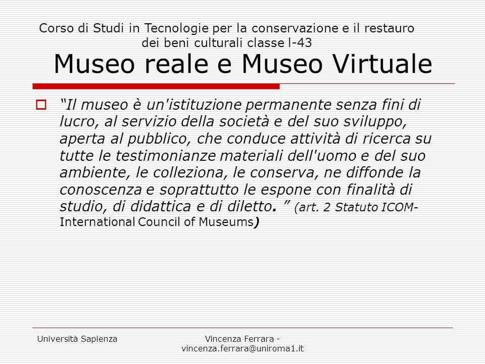 Museo reale e Museo Virtuale