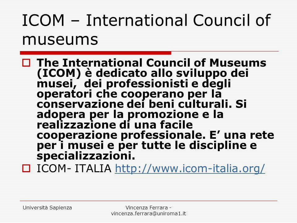 ICOM – International Council of museums