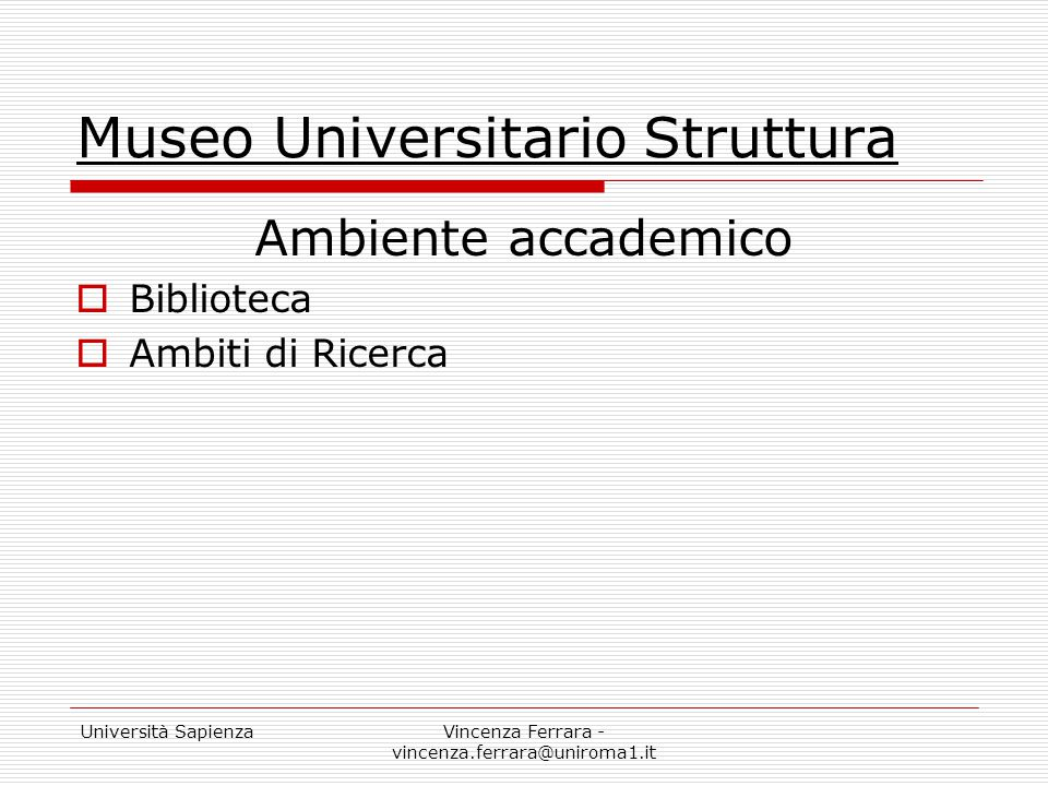 Museo Universitario Struttura