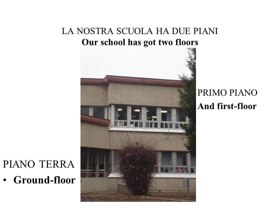 LA NOSTRA SCUOLA HA DUE PIANI Our school has got two floors